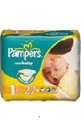 Купить PAMPERS New Baby Newborn 2-5 (27шт)/1